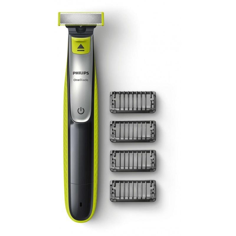 Philips QP2530/20 OneBlade skustuvas ir 4 galvutės ilgesnei barzdai