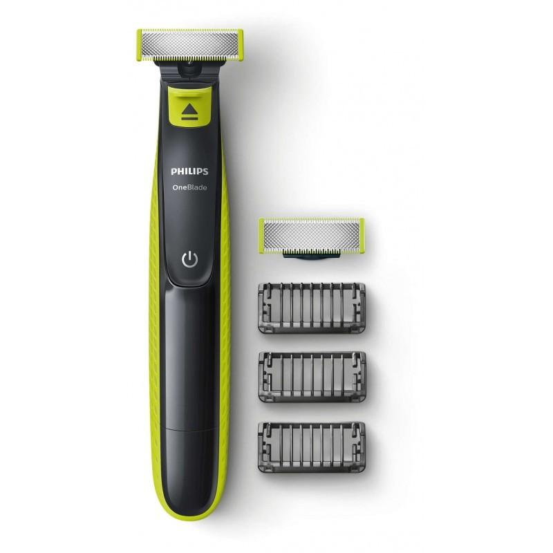 Philips OneBlade QP2520/30 One Blade skustuvas su atsarginiu peiliuku ir 3 galvutėm