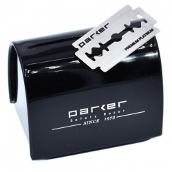 Saugus Parker panaudotų ašmenų dėtuvė-laikiklis
