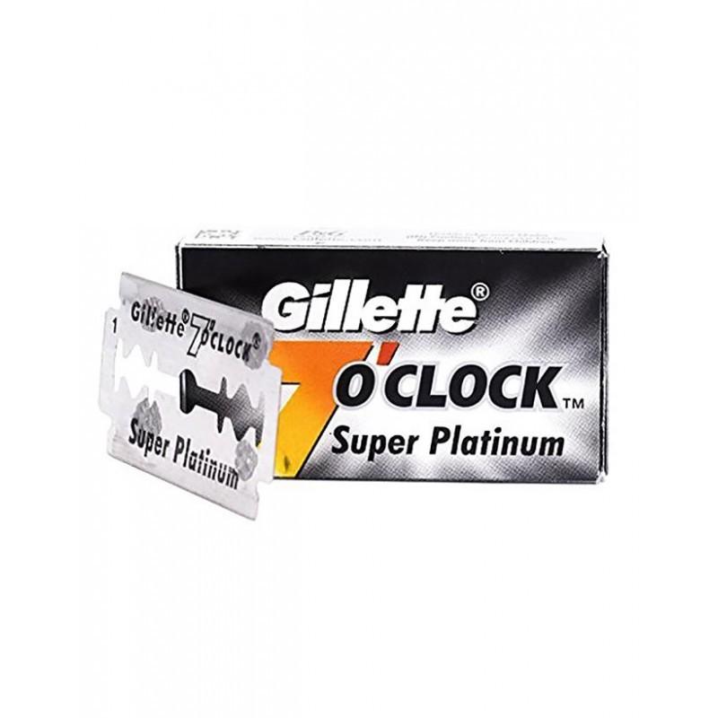 10vnt Gillette Black premium 7 oclock 2ašmenų keičiami peiliukai