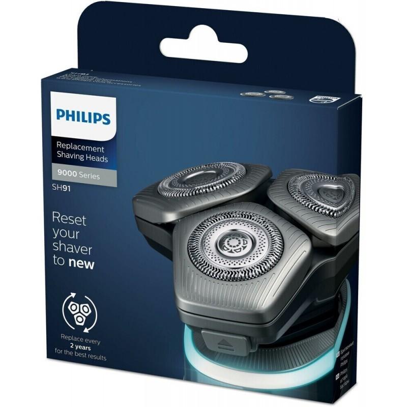 Philips SH91 atsarginės galvutės 9 9000 8000 serijos barzdaskutėm sh 91